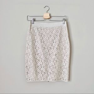 {The Limited} Cream Lace Crochet Pencil Skirt